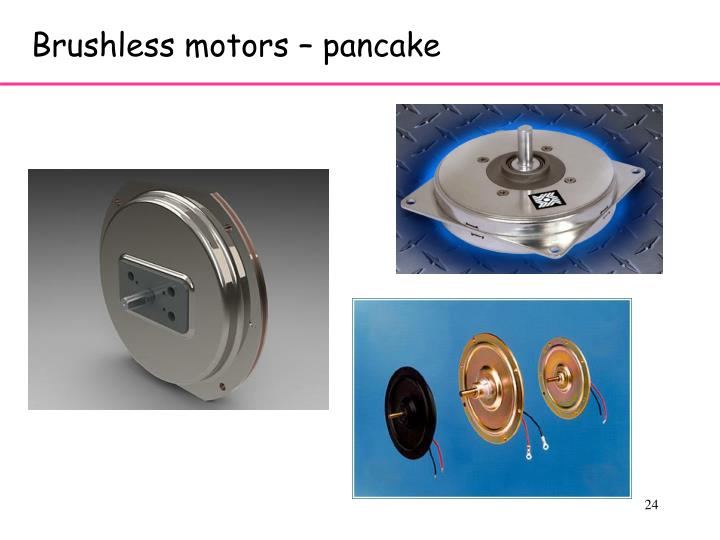 Brushless motors – pancake