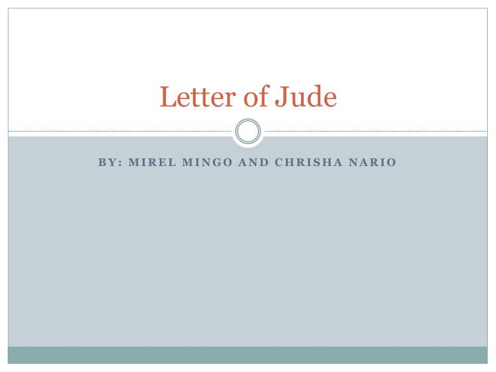 Letter of Jude