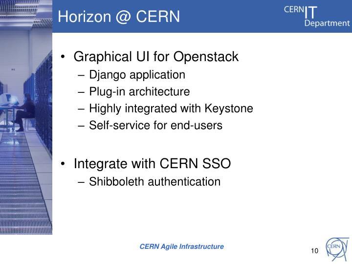 Horizon @ CERN