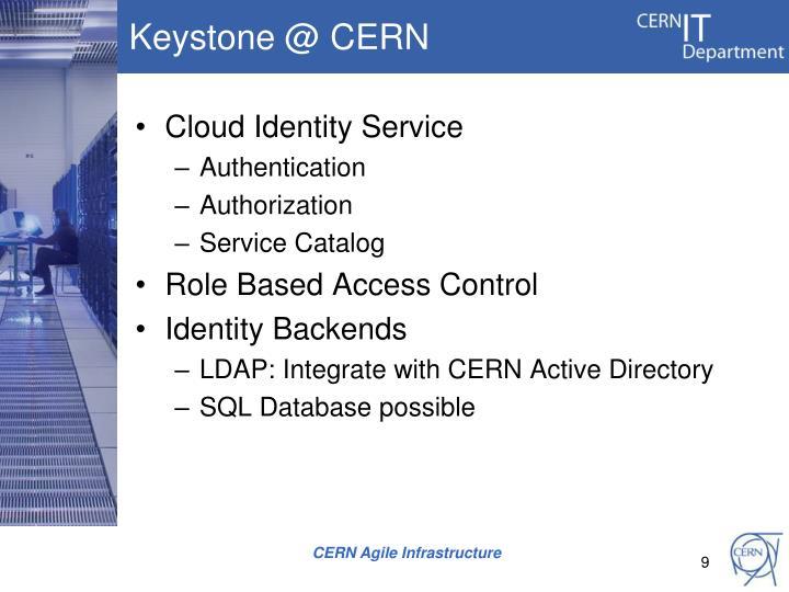 Keystone @ CERN