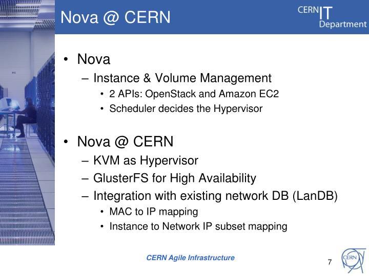 Nova @ CERN