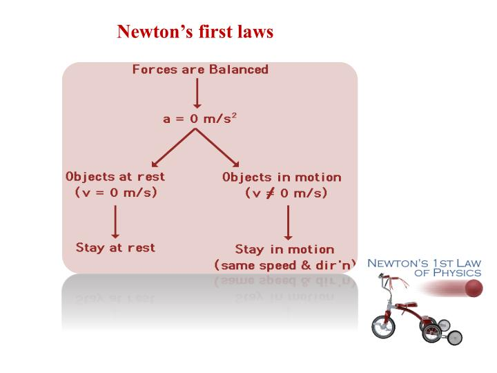 Newton's first laws