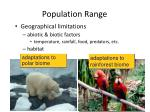 population range