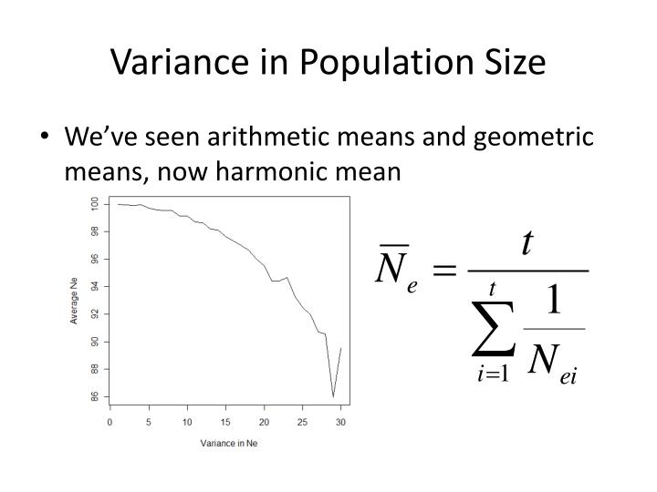 Variance in Population Size
