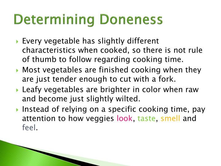 Determining Doneness