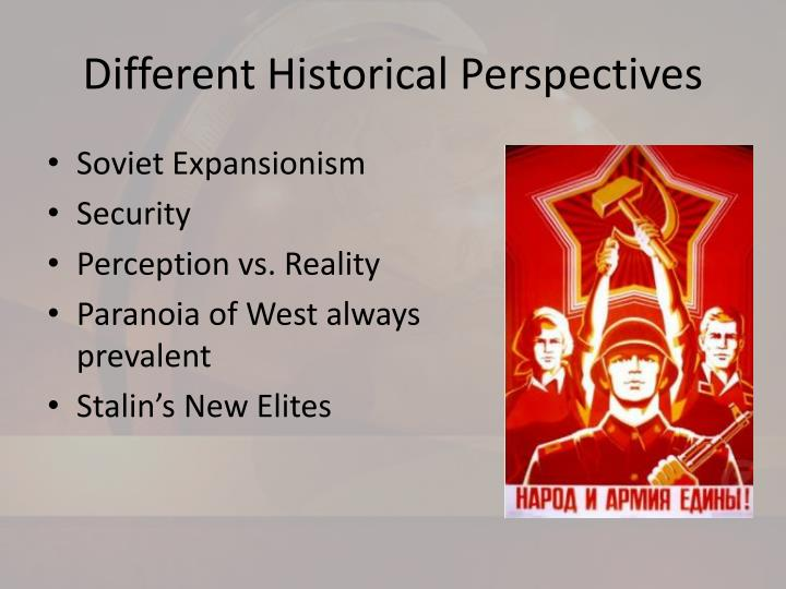 Different historical perspectives