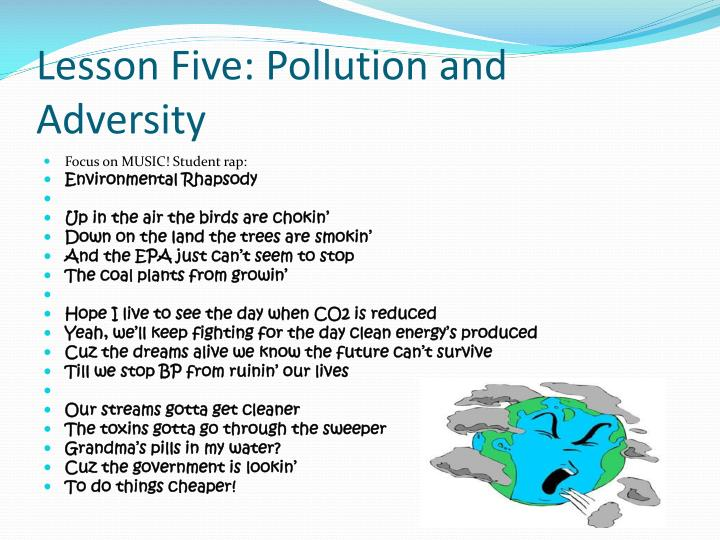 Lesson Five: Pollution and Adversity