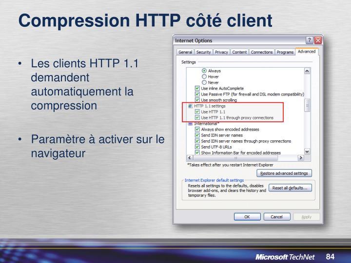 Compression HTTP côté client