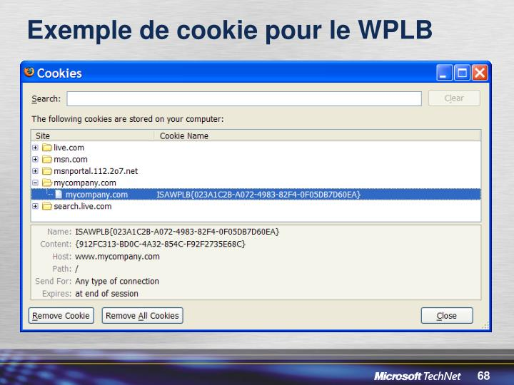 Exemple de cookie pour le WPLB