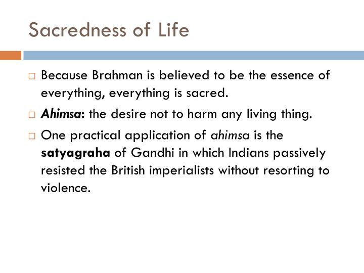 Sacredness of Life