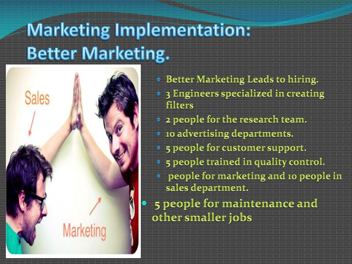 Marketing Implementation: