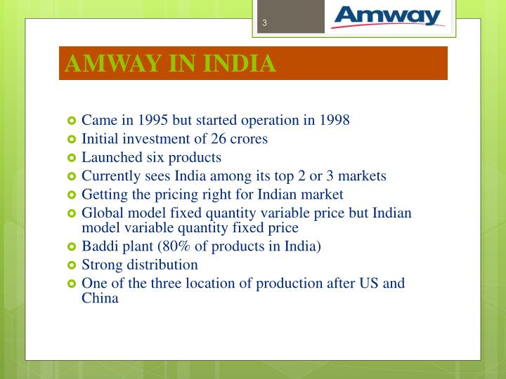 Amway in india