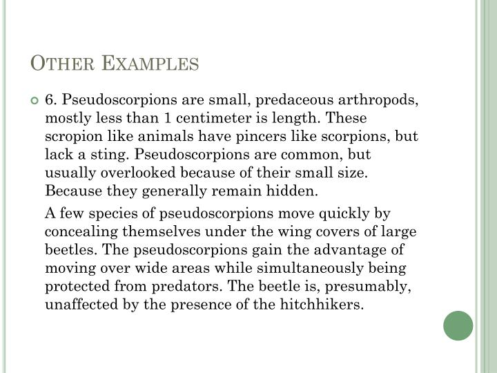 Other Examples