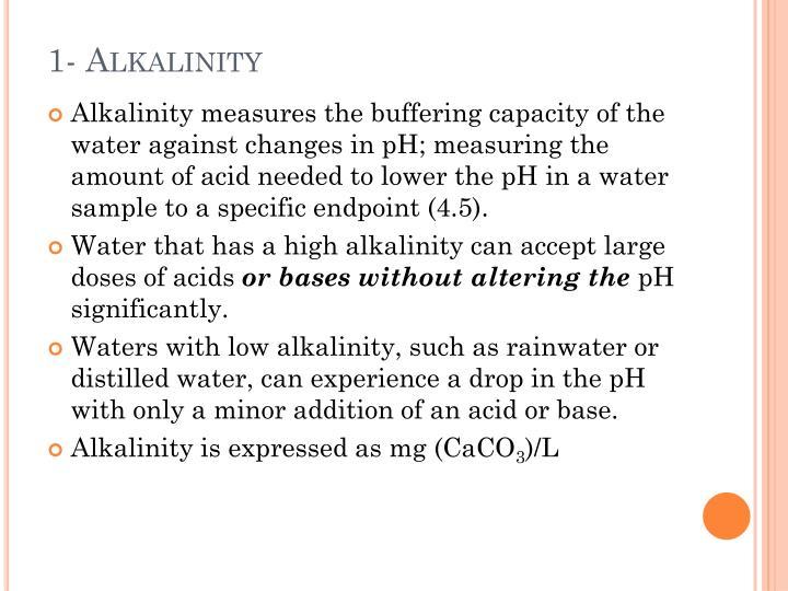 1- Alkalinity