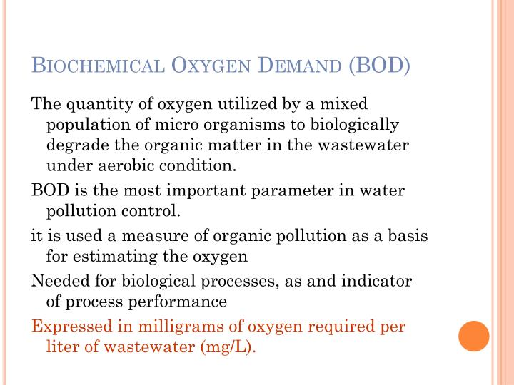 Biochemical Oxygen