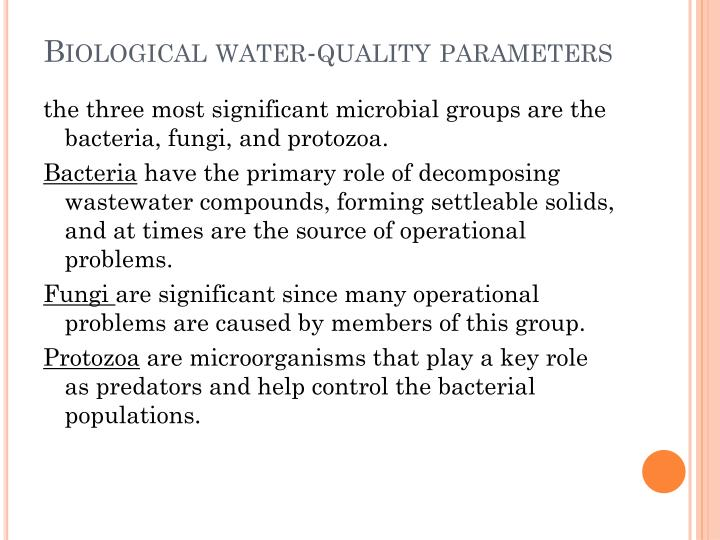 Biological water-quality