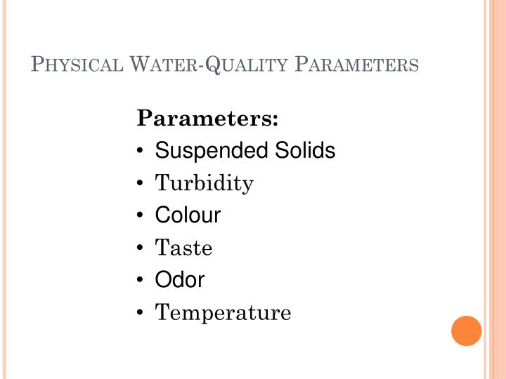 Physical Water-Quality