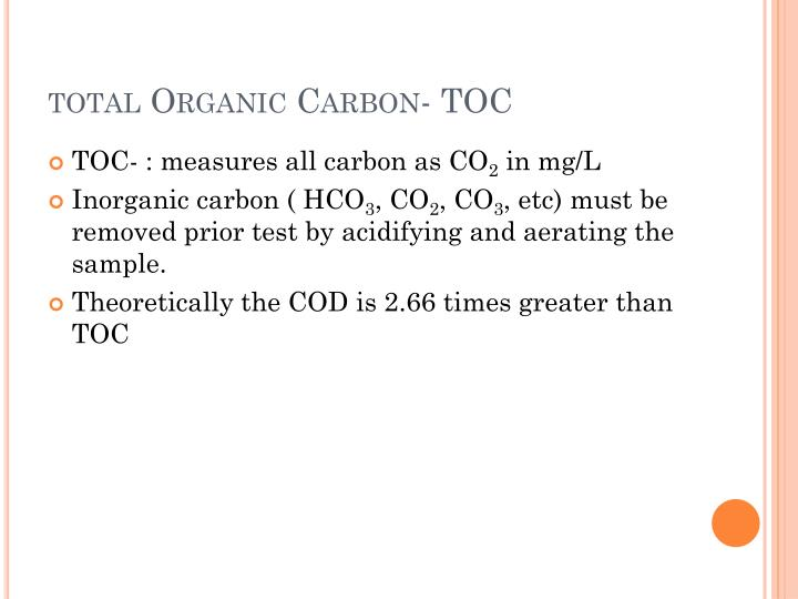 total Organic Carbon- TOC