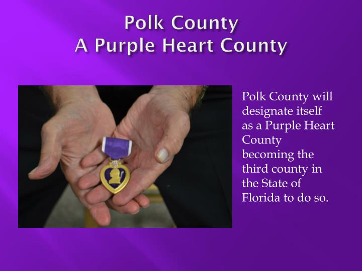 Polk county a purple heart county