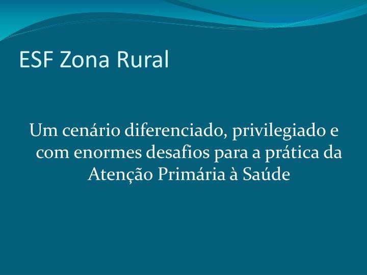 ESF Zona Rural