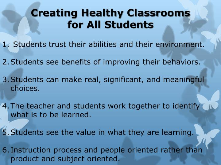 Creating Healthy Classrooms for All Students