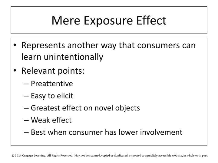 Mere Exposure Effect