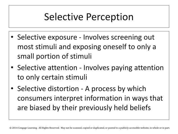 Selective Perception