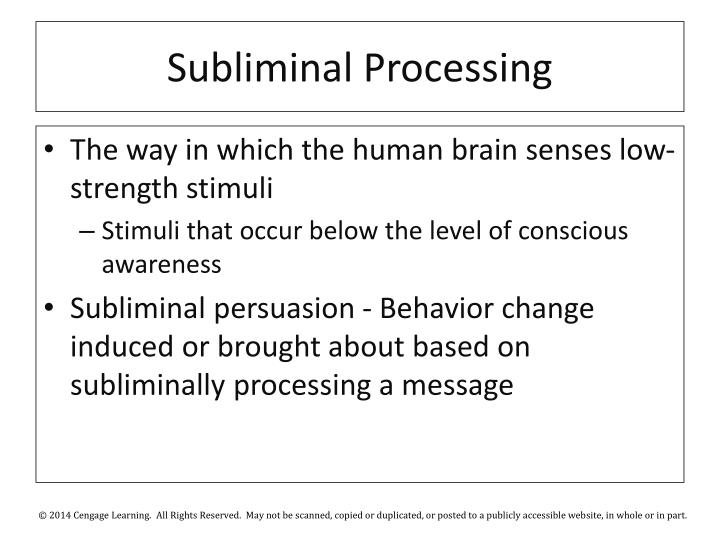 Subliminal Processing
