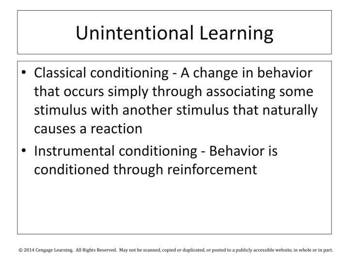 Unintentional Learning