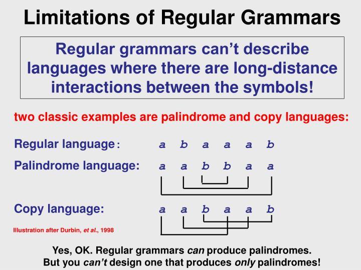 Limitations of Regular Grammars