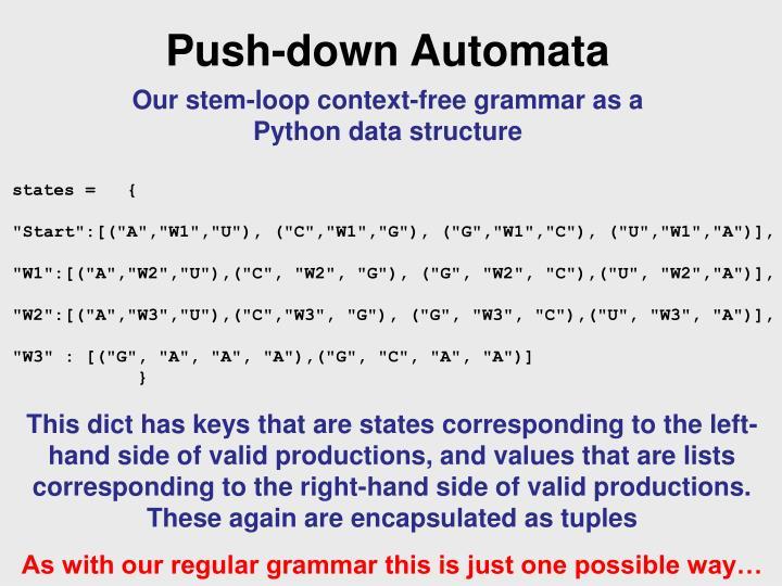 Push-down Automata