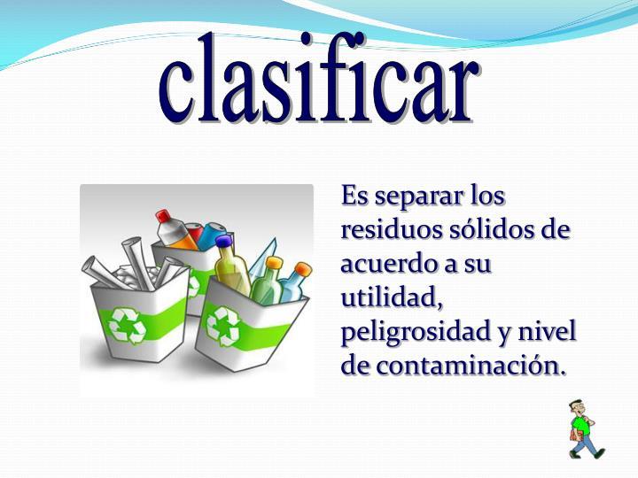 clasificar