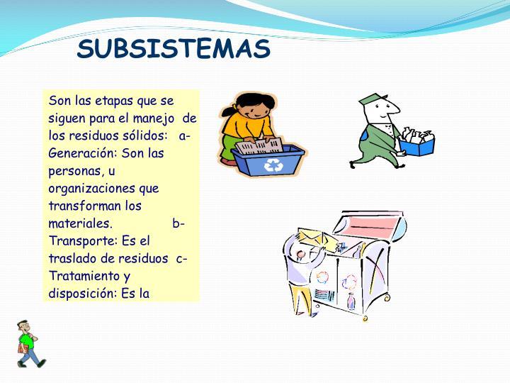 SUBSISTEMAS