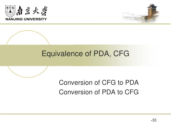 Equivalence of PDA, CFG