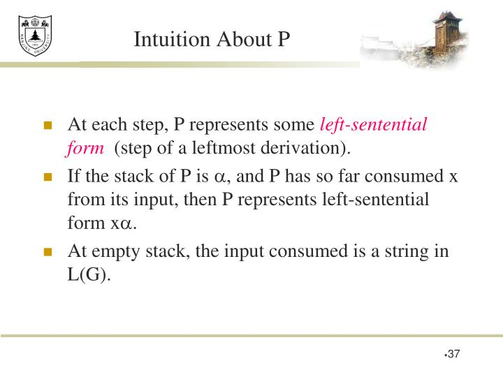 Intuition About P