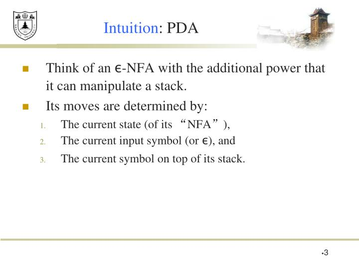 Intuition pda