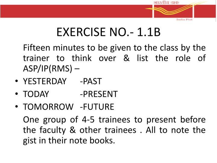 EXERCISE NO.-