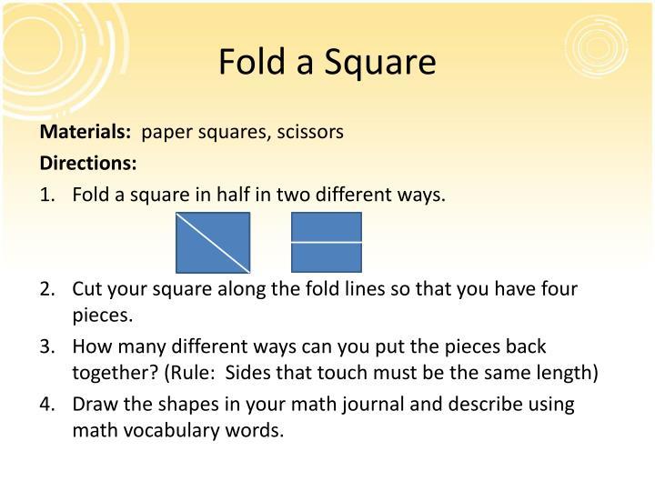 Fold a Square
