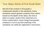 four major works of first grade math