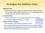 strategies for addition facts1