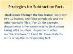 strategies for subtraction facts1