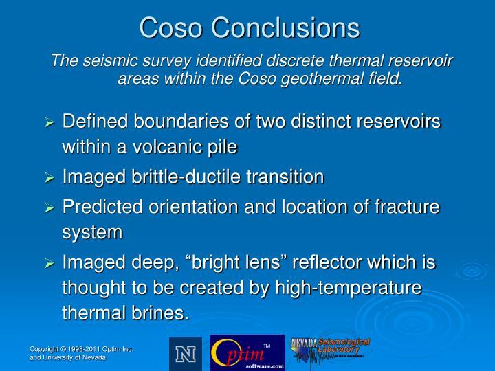 Coso Conclusions
