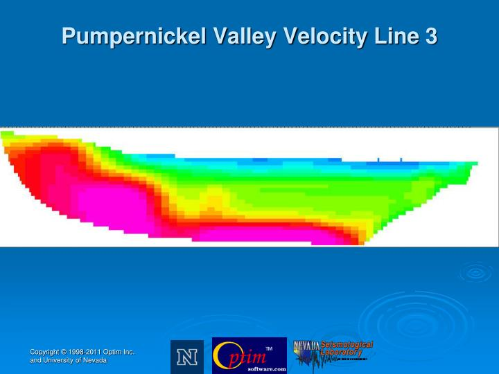 Pumpernickel Valley Velocity Line 3