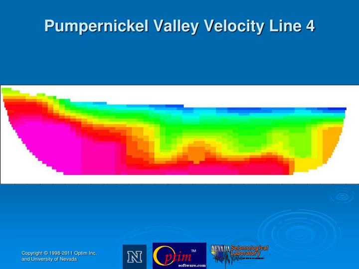 Pumpernickel Valley Velocity Line 4