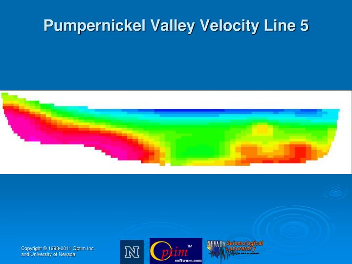 Pumpernickel Valley Velocity Line 5