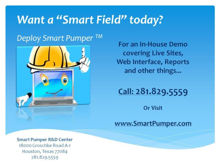 """Want a """"Smart Field"""" today?"""
