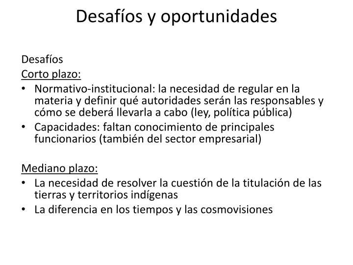 Desafíos y oportunidades
