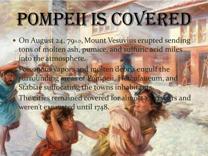 Pompeii is covered