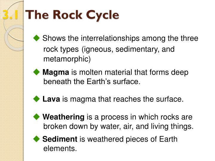 3 1 the rock cycle1