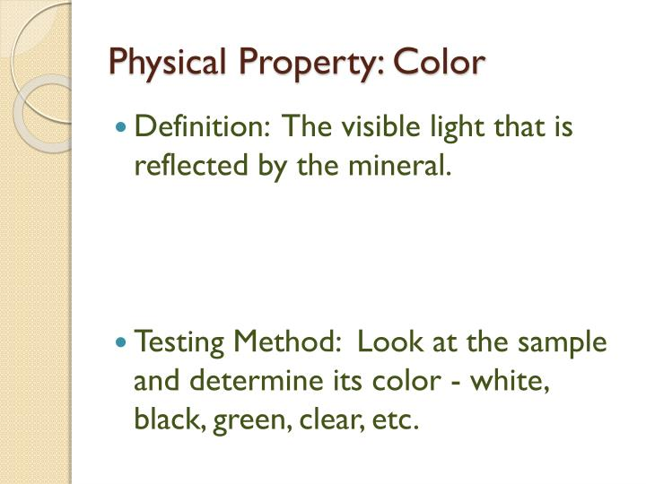 Physical Property: Color